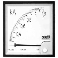 Амперметр аналоговый панельный транс.включения для измерения переменного тока со шкала до 200A фланец 72мм  серия AMT IQ72 200/5