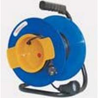 Удлинитель на катушке 1 розетка, 30 м, d=240мм, термозащита ПВС 2х1