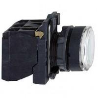 Кнопка белая 22 мм 1НО+1НЗ со встроенной LED подсветкой 24В с возвратом