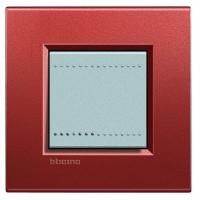 Рамка 2 модуля прямоугольная красный шелк Living Light (Bticino)