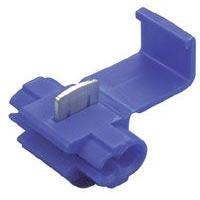 Соединитель Scotchlok с врезным контактом гелезаполненный для провода сечением 0,5-1,5 кв.мм синий-белый