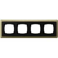 Рамка 4 поста бронза/черный CassiX