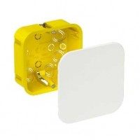 Коробка монтажная разветвительная 100х100х50 мм с крышкой для полых стен метал. лапки, IP20