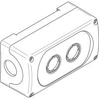 Корпус кнопочного поста MEP-2-0 на 2 элемента пластиковый