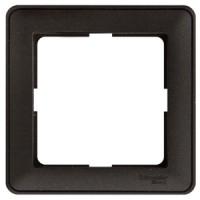 Рамка 1 пост черный бархат Wessen59