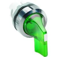 Переключатель (кор ручка) зеленый с подсветкой  2-х поз (только корпус) 45# с фиксацией тип M2SS4-21G