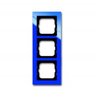Рамка 3 поста цвет синий Axcent