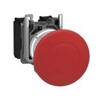 Кнопка красная аварийного останова 22мм 1НО+1НЗ триггерного действия типа