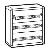 Шкаф 3рейки/72модуля металлический серия XL3 160