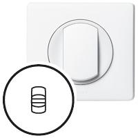 Накладка для выключателя/переключателя с рычажком белый Celiane