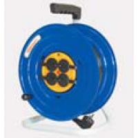 Удлинитель на катушке металл. 4 розетки, 50 м, d=240, термозащита, IP44, У16-041 ПВС 3х1,5