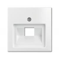 Накладка для розетки телефонной/компьютерной альпийский белый Basic 55