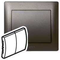 Клавиша для выключателя/переключателя 2 клавишного темная бронза Galea Life