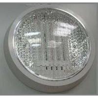 Светильник настенный для КЛЛ 26Вт круг прозрачный IP20