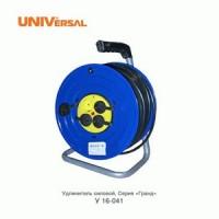 Удлинитель на катушке 4 розетки, 40 м, термозащита, IP-44, У16-041 ПВС 3x1,5