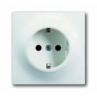 Розетка 2P+E  16А белый бархат impuls