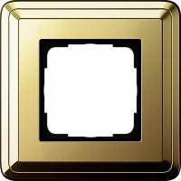Рамка 1 пост латунь/латунь CassiX