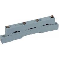 Шинный держатель для 3х шин Cu сечением 12х5 до 30х10 (250-630А) межшинное пространство 60мм