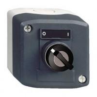 Кнопочный пост управления с переключателем 22мм черный с ключом 2-х позиционный 1НО c фиксацией