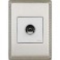 Рамка 1 пост хром с квадратным вырезом venezia metal (Fontini)
