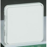 Переключатель на 2 направления антибактер. покрытие белый IP 55  Plexo