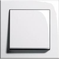 Рамка 1 пост глянцевый белый E2