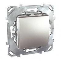Переключатель 1 клавишный перекрестный алюминий Unica Top