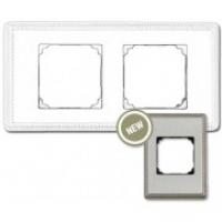 Рамка 2 поста хром с квадратным вырезом venezia metal (Fontini)