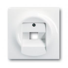 Накладка для розетки телефонной/компьютерной альпийский белый impuls