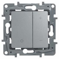 Светорегулятор нажимной 400Вт алюминий Etika