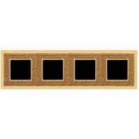 Рамка 4 поста золото Swarovski art