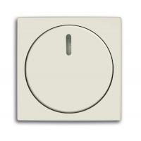 Центральная плата с поворотной ручкой лампой подсветки для светорегулятора шале белый Basic 55