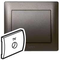 Накладка  для розетки телевизионной темная бронза Galea Life