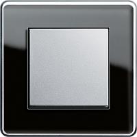 Рамка 1 пост чёрное стекло ESPRIT C