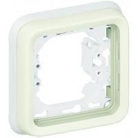 Рамка с суппортом 1 пост, белый  IP 55  Plexo