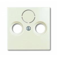 Накладка для антенной розетки TV+FM шале белый Basic 55