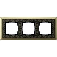 Рамка 3 поста бронза/черный CassiX Art