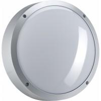 Светильник  настенный для КЛЛ 1х15 Вт Е27, IP65 серебро круг