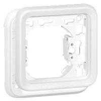 Рамка с суппортом 1 пост, белый  IP 55  Plexo Artic