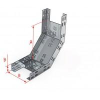 Лоток для поворота трассы вверх под углом 90˚КС/КСГ 600x65-90