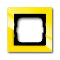 Рамка 1 пост цвет жёлтый Axcent