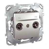 Розетка телевизионная TV-FM оконечная алюминий Unica Top