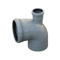 Отвод канализационный 110х50/90 фронтальный Политек