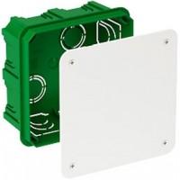 Коробка монтажная разветвительная 100х100х50 мм с крышкой для сплошных стен, IP30