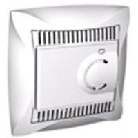 Термостат  для теплого пола с датчиком от +5 до +50°C белый Дуэт