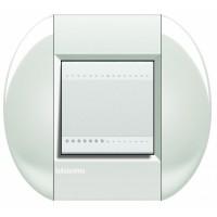Рамка 2 модуля овальная белый Living Light (Bticino)