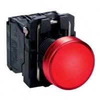 Сигнальная лампа красная 22 мм со встроенной LED подсветкой 24В AC/DC