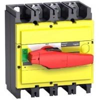 Выключатель-разъединитель 3-пол. 400А с красной ручкой INTERPACT INS400