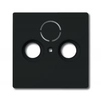 Накладка для антенной розетки TV+FM+SATантрацит solo/future