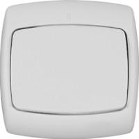 Выключатель 1 клавишный белый РОНДО (уп. 90 шт)